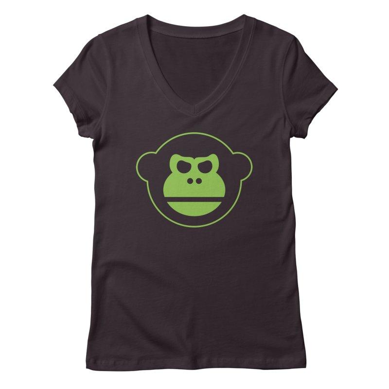 Team Monkey Women's V-Neck by Monkeys Fighting Robots' Artist Shop