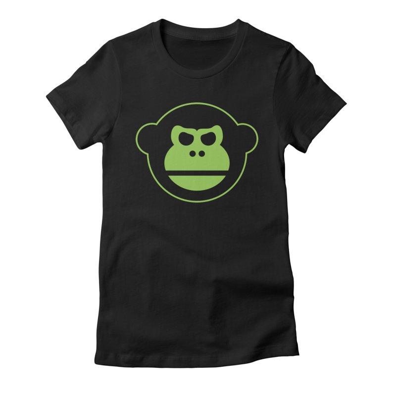 Team Monkey Women's Fitted T-Shirt by Monkeys Fighting Robots' Artist Shop