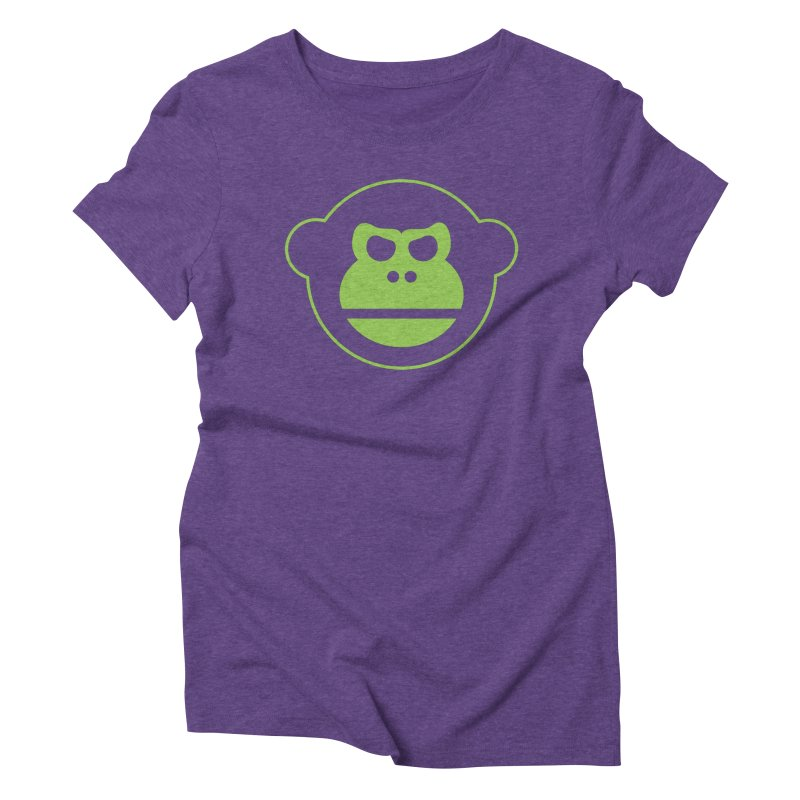 Team Monkey Women's Triblend T-shirt by Monkeys Fighting Robots' Artist Shop