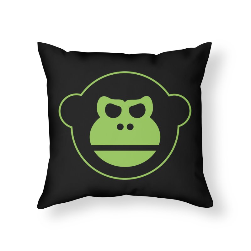 Team Monkey Home Throw Pillow by Monkeys Fighting Robots' Artist Shop