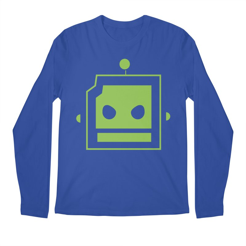 Team Robot  Men's Longsleeve T-Shirt by Monkeys Fighting Robots' Artist Shop