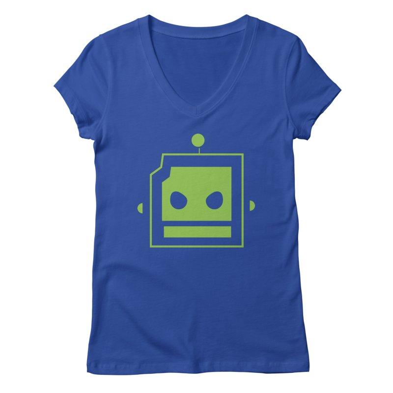 Team Robot  Women's V-Neck by Monkeys Fighting Robots' Artist Shop