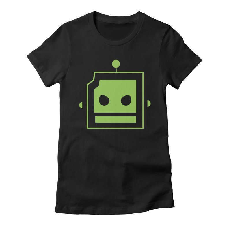 Team Robot  Women's Fitted T-Shirt by Monkeys Fighting Robots' Artist Shop