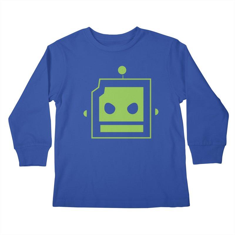 Team Robot  Kids Longsleeve T-Shirt by Monkeys Fighting Robots' Artist Shop
