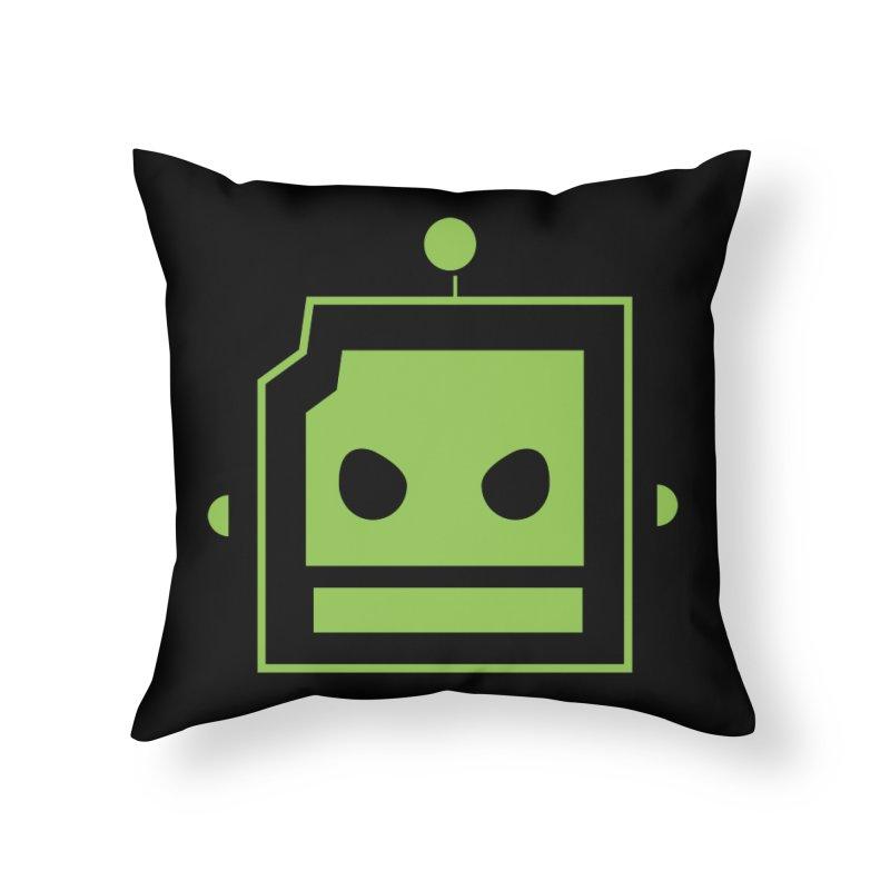 Team Robot  Home Throw Pillow by Monkeys Fighting Robots' Artist Shop