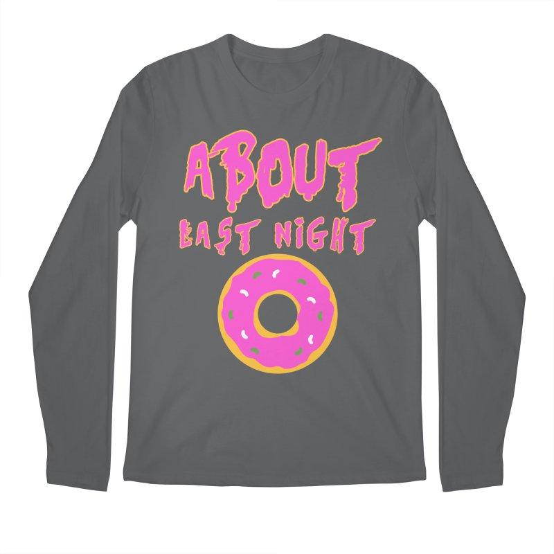 About Last Night's Donut  Men's Longsleeve T-Shirt by Monkeys Fighting Robots' Artist Shop