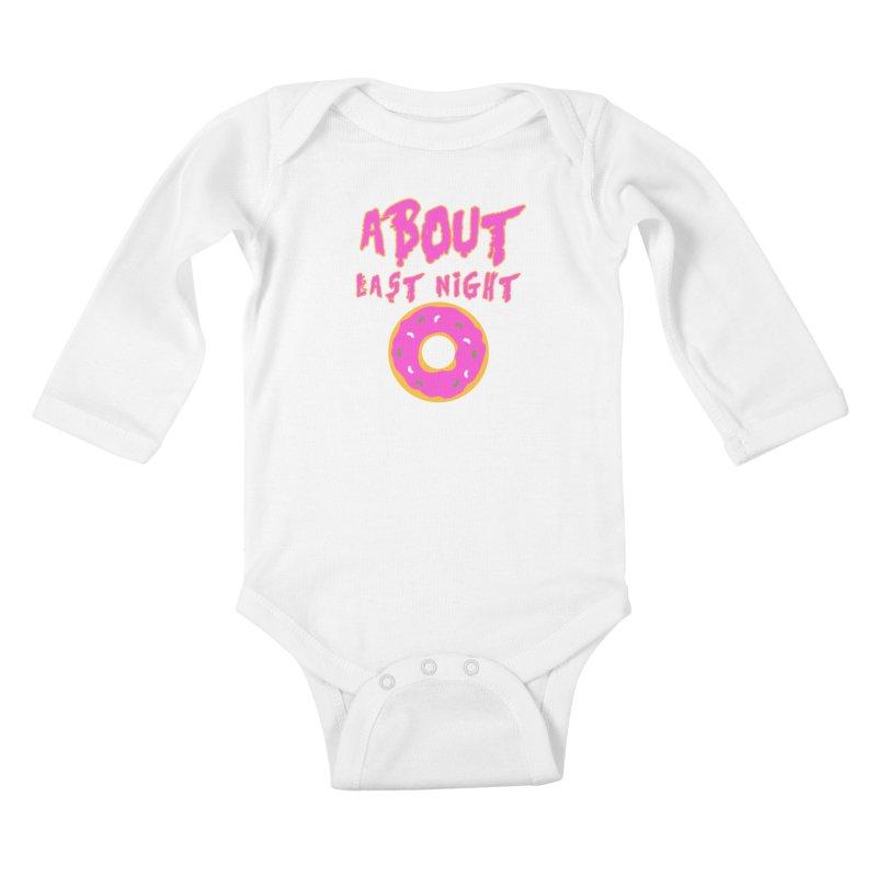 About Last Night's Donut  Kids Baby Longsleeve Bodysuit by Monkeys Fighting Robots' Artist Shop