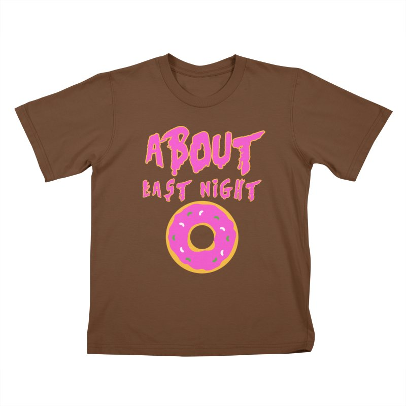 About Last Night's Donut  Kids T-Shirt by Monkeys Fighting Robots' Artist Shop