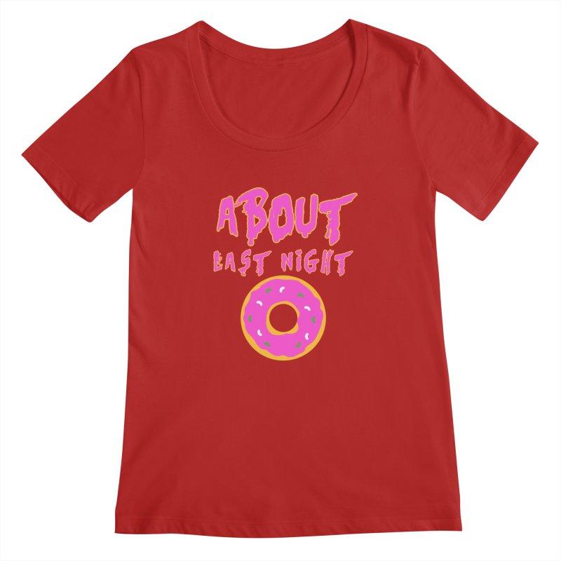 About Last Night's Donut  Women's Scoopneck by Monkeys Fighting Robots' Artist Shop