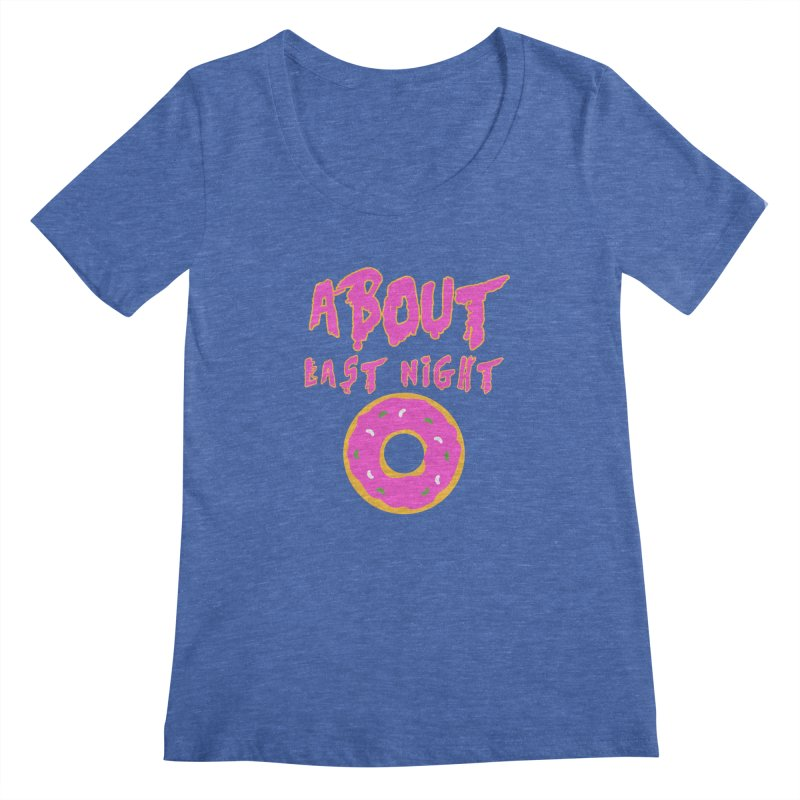 About Last Night's Donut  Women's Scoopneck by Monkeys Fighting Robots' Artist Shop