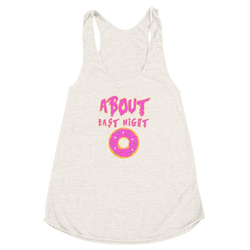 About Last Night's Donut  Women's Racerback Triblend Tank by Monkeys Fighting Robots' Artist Shop