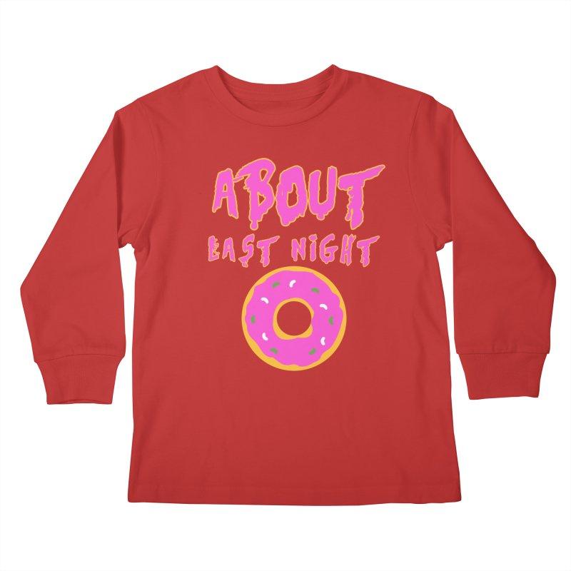 About Last Night's Donut  Kids Longsleeve T-Shirt by Monkeys Fighting Robots' Artist Shop
