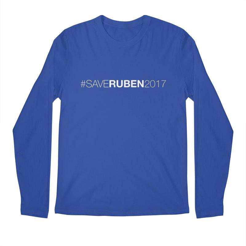Save Ruben  Men's Longsleeve T-Shirt by Monkeys Fighting Robots' Artist Shop