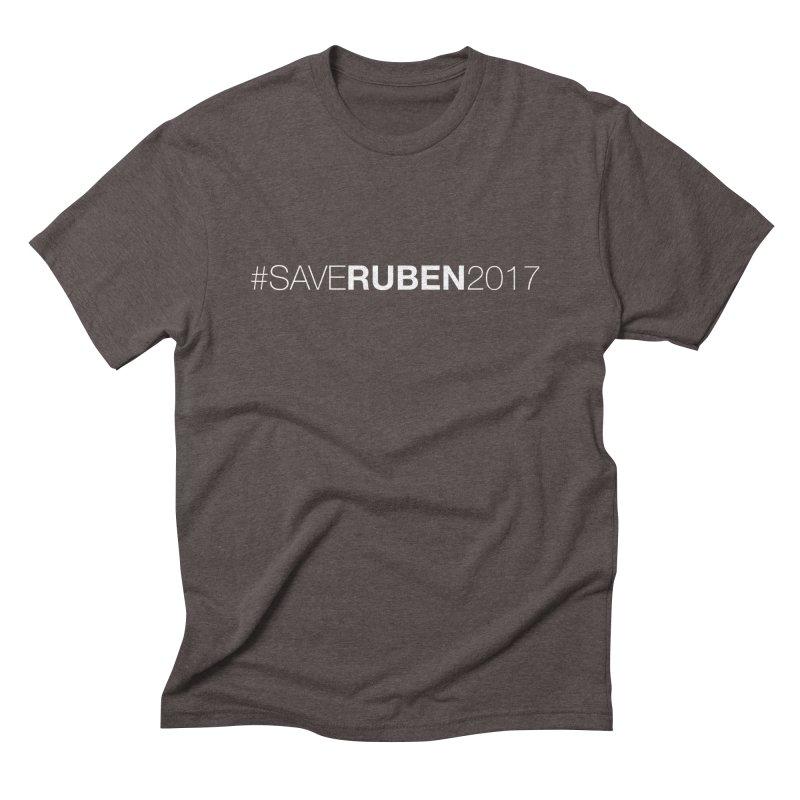 Save Ruben  Men's Triblend T-Shirt by Monkeys Fighting Robots' Artist Shop