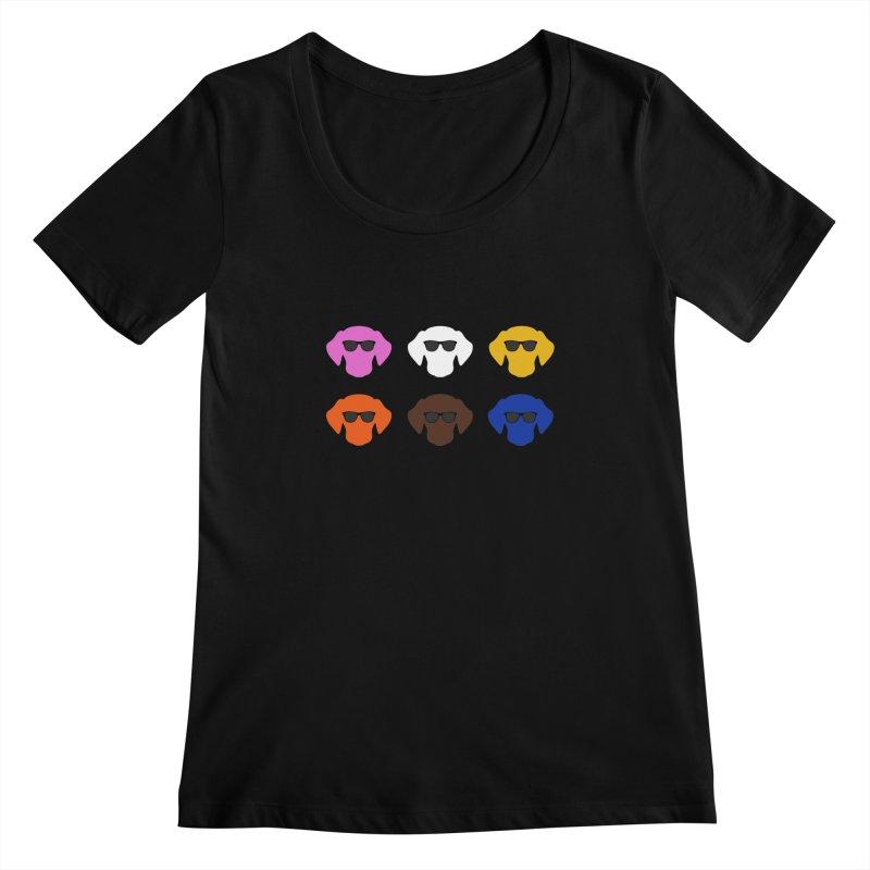 Reservoir Dogs Women's Scoopneck by Monkeys Fighting Robots' Artist Shop