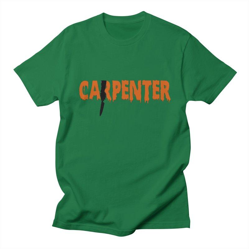 Carpenter Women's Regular Unisex T-Shirt by Monkeys Fighting Robots' Artist Shop