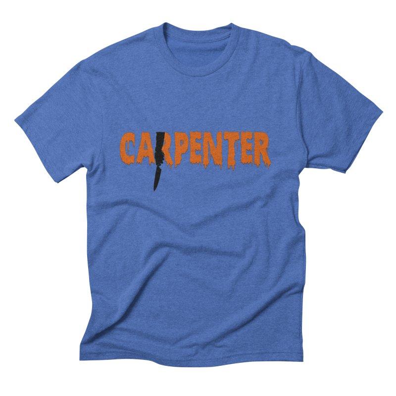 Carpenter Men's Triblend T-shirt by Monkeys Fighting Robots' Artist Shop