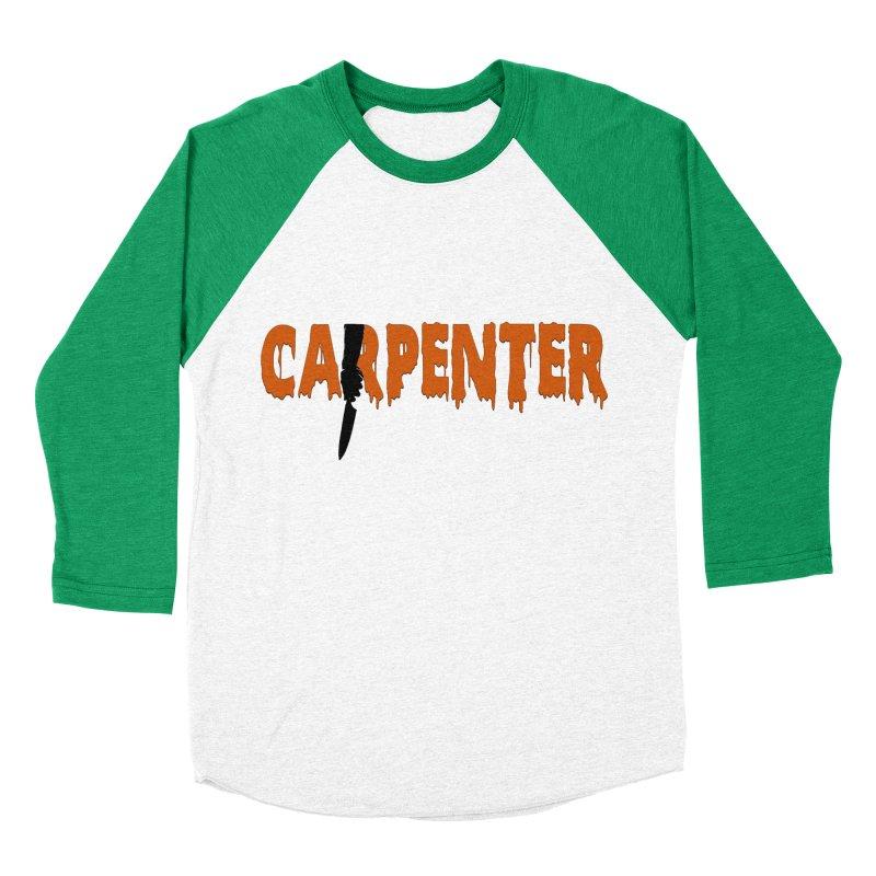 Carpenter Women's Baseball Triblend T-Shirt by Monkeys Fighting Robots' Artist Shop