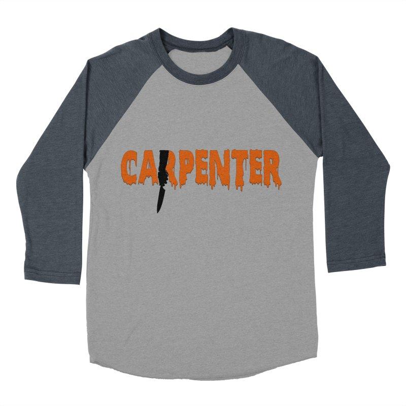 Carpenter Women's Baseball Triblend Longsleeve T-Shirt by Monkeys Fighting Robots' Artist Shop