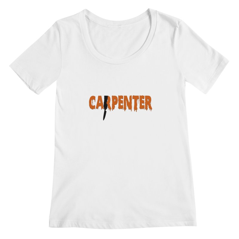 Carpenter Women's Scoopneck by Monkeys Fighting Robots' Artist Shop