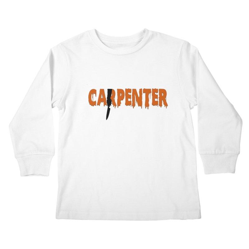 Carpenter Kids Longsleeve T-Shirt by Monkeys Fighting Robots' Artist Shop
