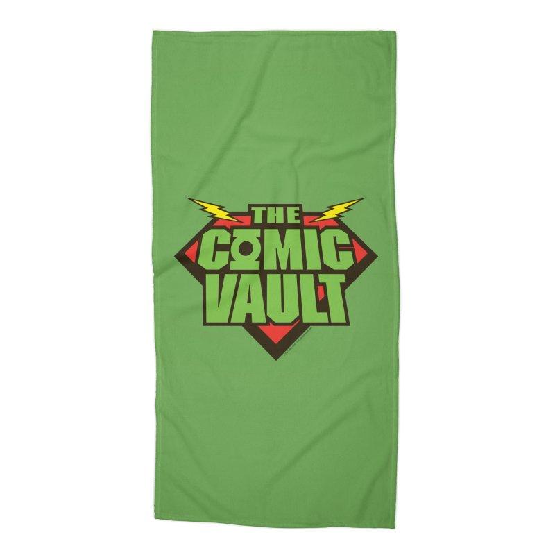 Chicago Comic Vault Old School Logo  Accessories Beach Towel by Monkeys Fighting Robots' Artist Shop