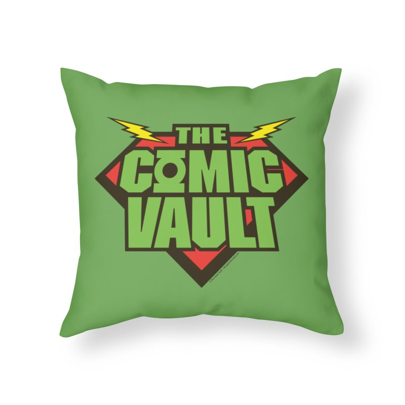 Chicago Comic Vault Old School Logo  Home Throw Pillow by Monkeys Fighting Robots' Artist Shop