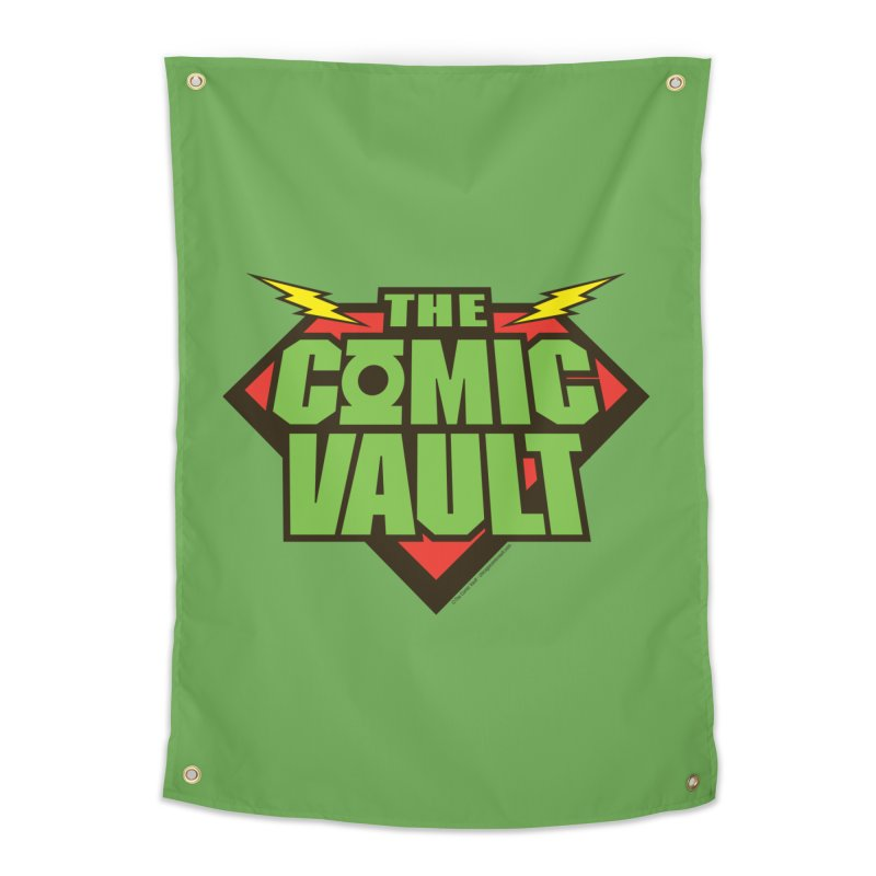 Chicago Comic Vault Old School Logo  Home Tapestry by Monkeys Fighting Robots' Artist Shop