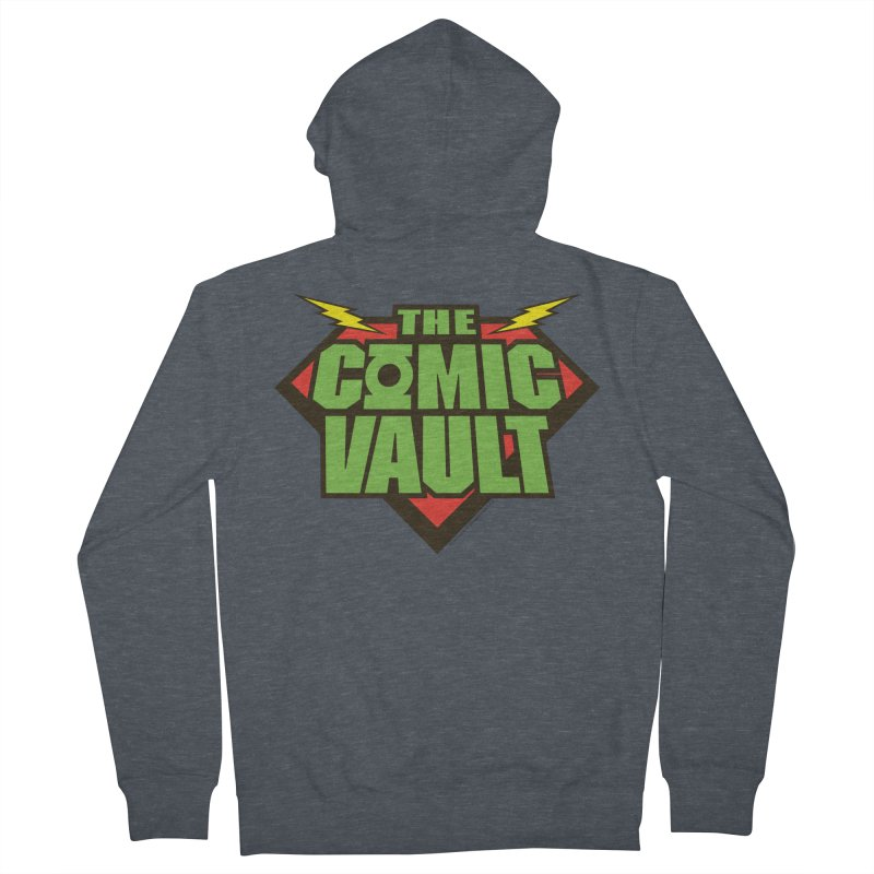 Chicago Comic Vault Old School Logo  Women's French Terry Zip-Up Hoody by Monkeys Fighting Robots' Artist Shop