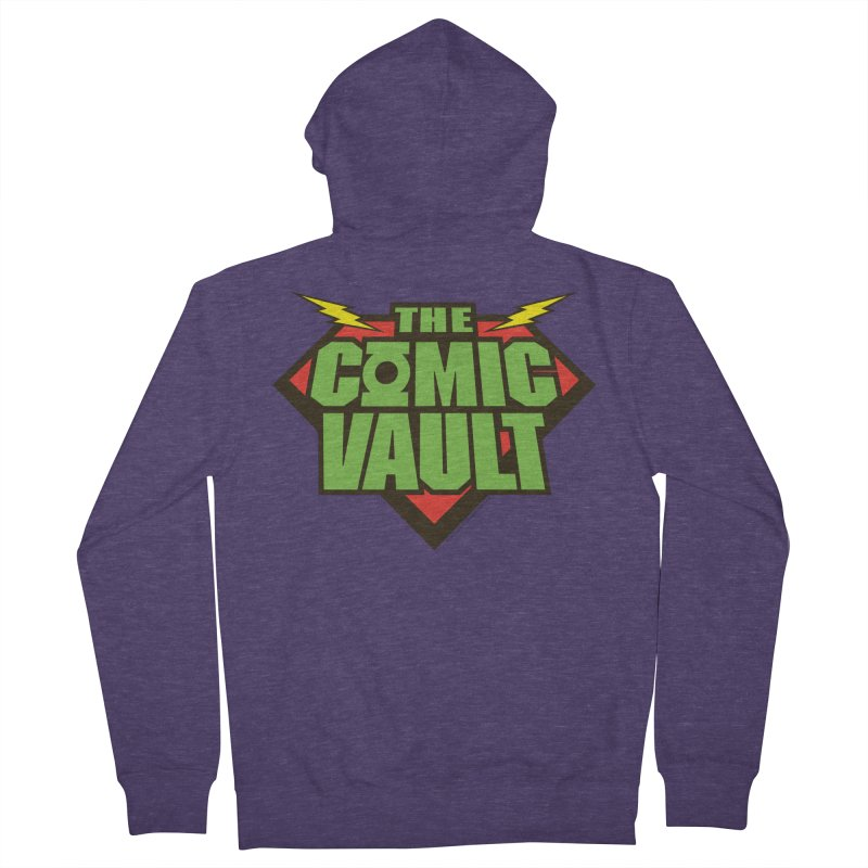 Chicago Comic Vault Old School Logo  Men's French Terry Zip-Up Hoody by Monkeys Fighting Robots' Artist Shop