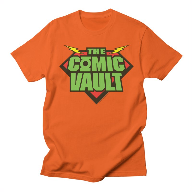 Chicago Comic Vault Old School Logo  Men's T-Shirt by Monkeys Fighting Robots' Artist Shop