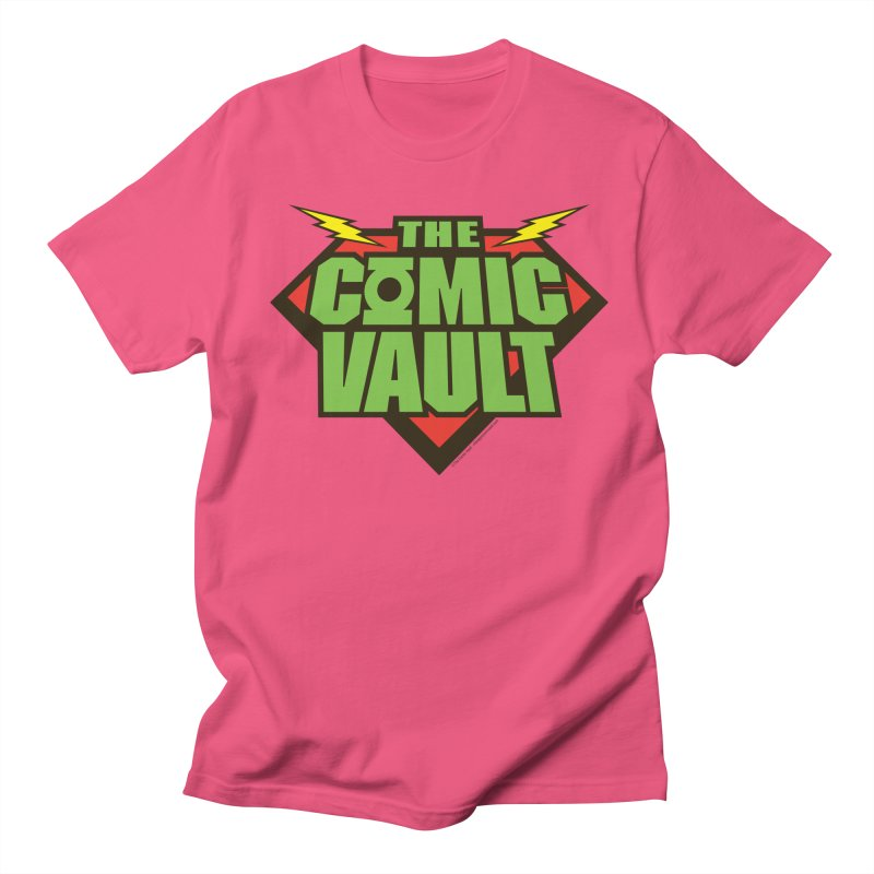 Chicago Comic Vault Old School Logo  Men's T-Shirt by Monkeys Fighting Robots' Artist Shop