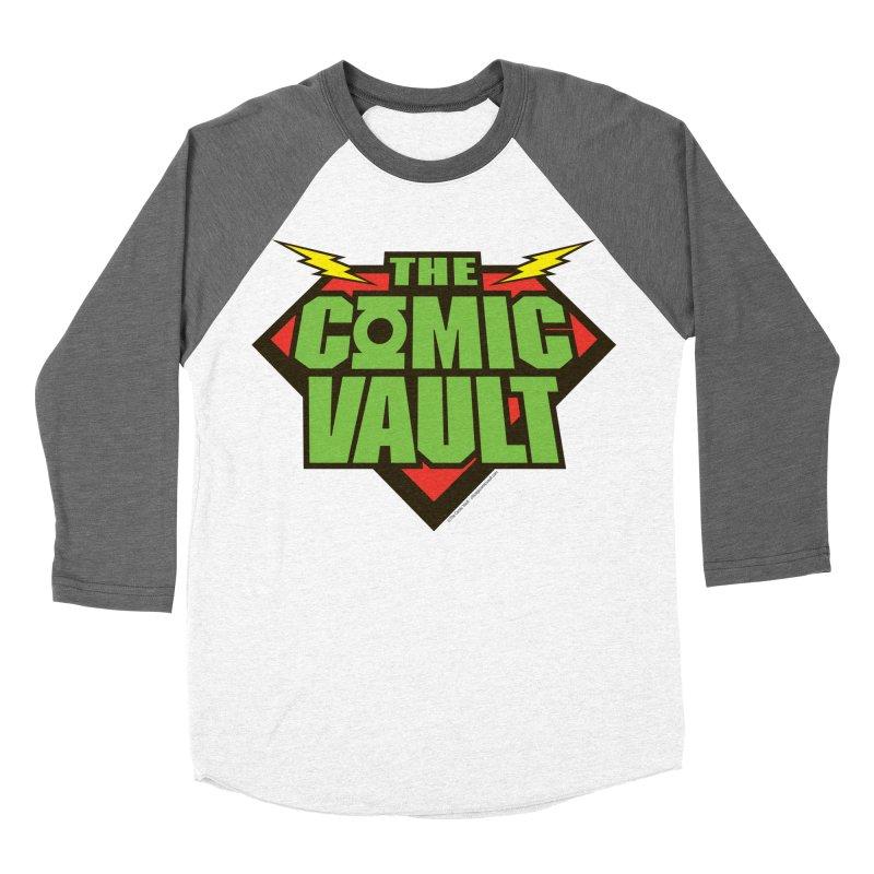 Chicago Comic Vault Old School Logo  Women's Baseball Triblend Longsleeve T-Shirt by Monkeys Fighting Robots' Artist Shop