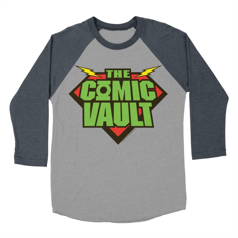 Chicago Comic Vault Old School Logo  Women's Baseball Triblend T-Shirt by Monkeys Fighting Robots' Artist Shop