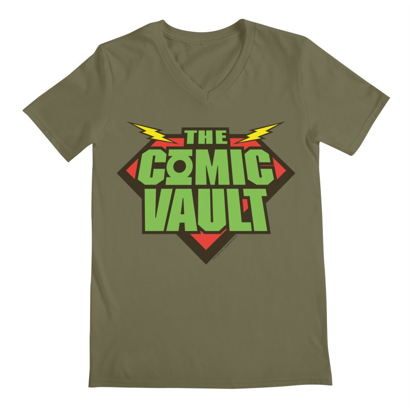 Chicago Comic Vault Old School Logo  Men's V-Neck by Monkeys Fighting Robots' Artist Shop