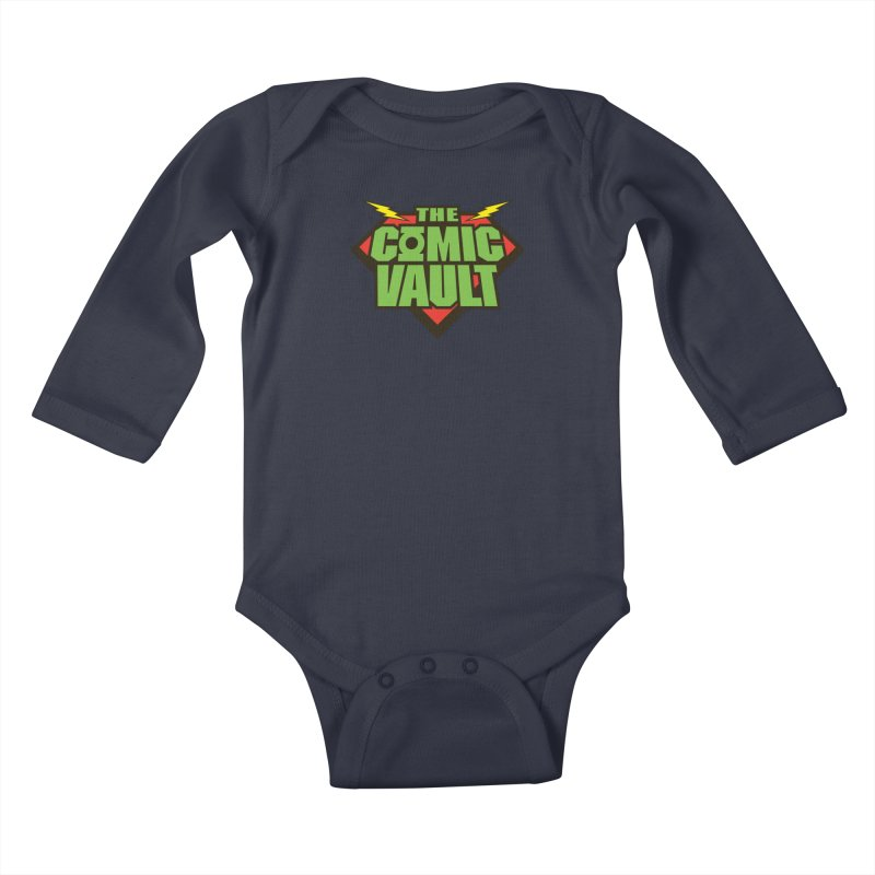 Chicago Comic Vault Old School Logo  Kids Baby Longsleeve Bodysuit by Monkeys Fighting Robots' Artist Shop
