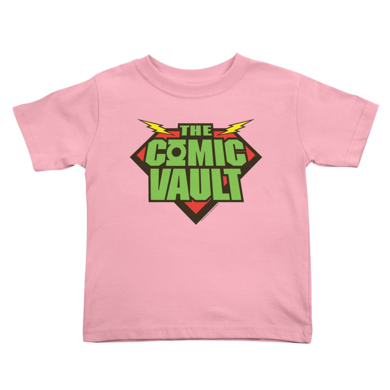 Chicago Comic Vault Old School Logo  Kids Toddler T-Shirt by Monkeys Fighting Robots' Artist Shop
