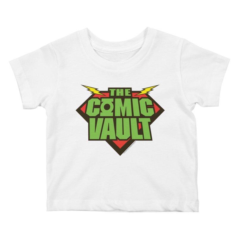 Chicago Comic Vault Old School Logo  Kids Baby T-Shirt by Monkeys Fighting Robots' Artist Shop
