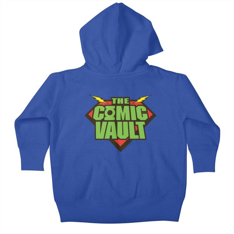 Chicago Comic Vault Old School Logo  Kids Baby Zip-Up Hoody by Monkeys Fighting Robots' Artist Shop
