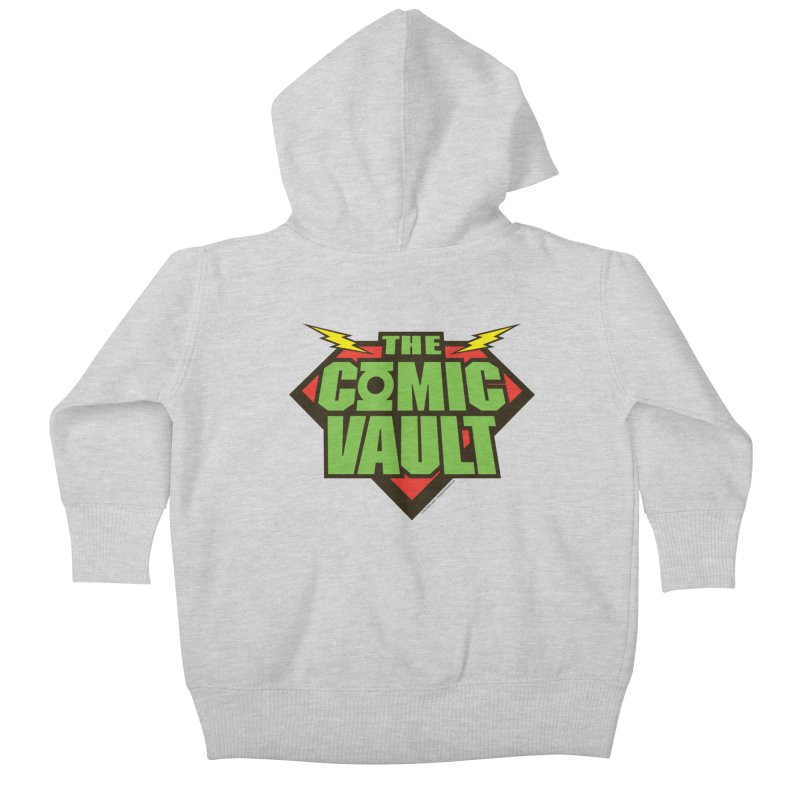 Chicago Comic Vault Old School Logo  Kids Baby Zip-Up Hoody by Monkeys Fighting Robots' Artist Shop