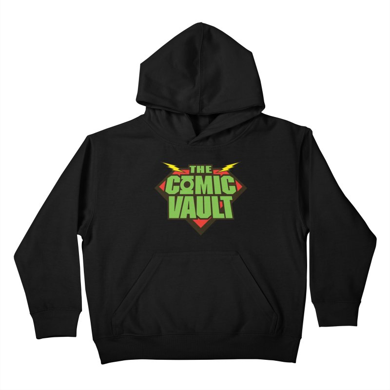 Chicago Comic Vault Old School Logo  Kids Pullover Hoody by Monkeys Fighting Robots' Artist Shop