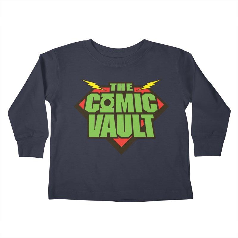 Chicago Comic Vault Old School Logo  Kids Toddler Longsleeve T-Shirt by Monkeys Fighting Robots' Artist Shop
