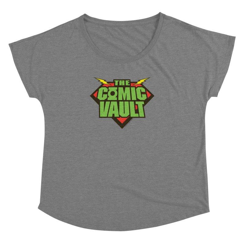 Chicago Comic Vault Old School Logo  Women's Dolman Scoop Neck by Monkeys Fighting Robots' Artist Shop