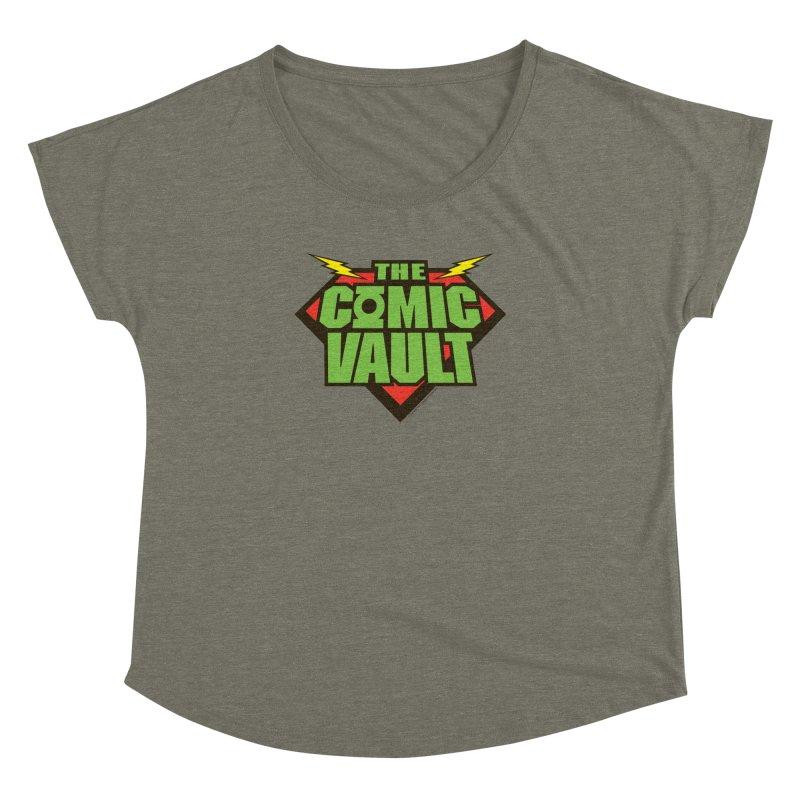 Chicago Comic Vault Old School Logo  Women's Dolman by Monkeys Fighting Robots' Artist Shop