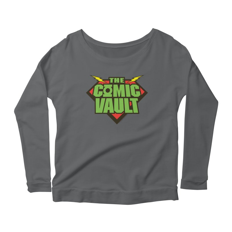 Chicago Comic Vault Old School Logo  Women's Longsleeve Scoopneck  by Monkeys Fighting Robots' Artist Shop
