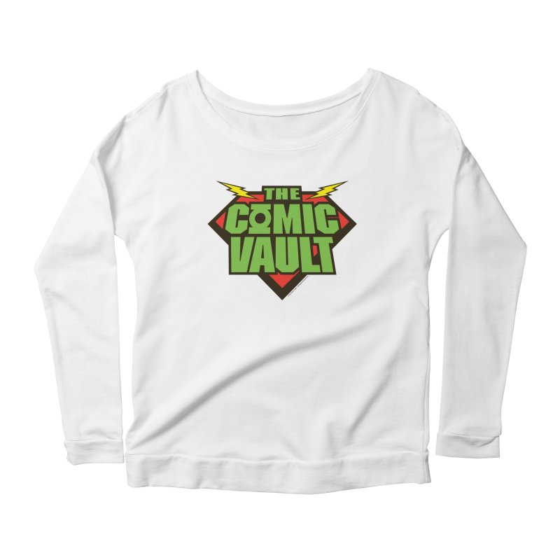 Chicago Comic Vault Old School Logo  Women's Longsleeve Scoopneck  by Monkeys Fighting Robots' Artist Shop