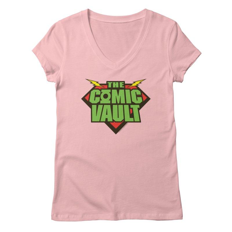 Chicago Comic Vault Old School Logo  Women's V-Neck by Monkeys Fighting Robots' Artist Shop