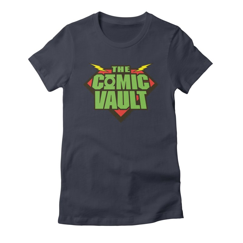 Chicago Comic Vault Old School Logo  Women's Fitted T-Shirt by Monkeys Fighting Robots' Artist Shop