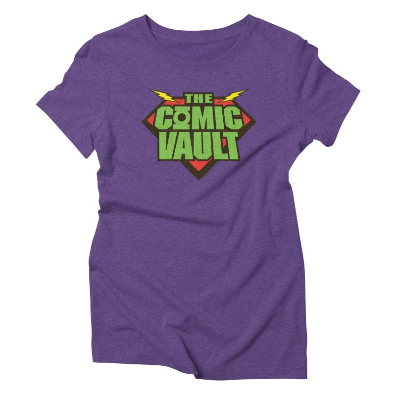 Chicago Comic Vault Old School Logo  Women's Triblend T-Shirt by Monkeys Fighting Robots' Artist Shop