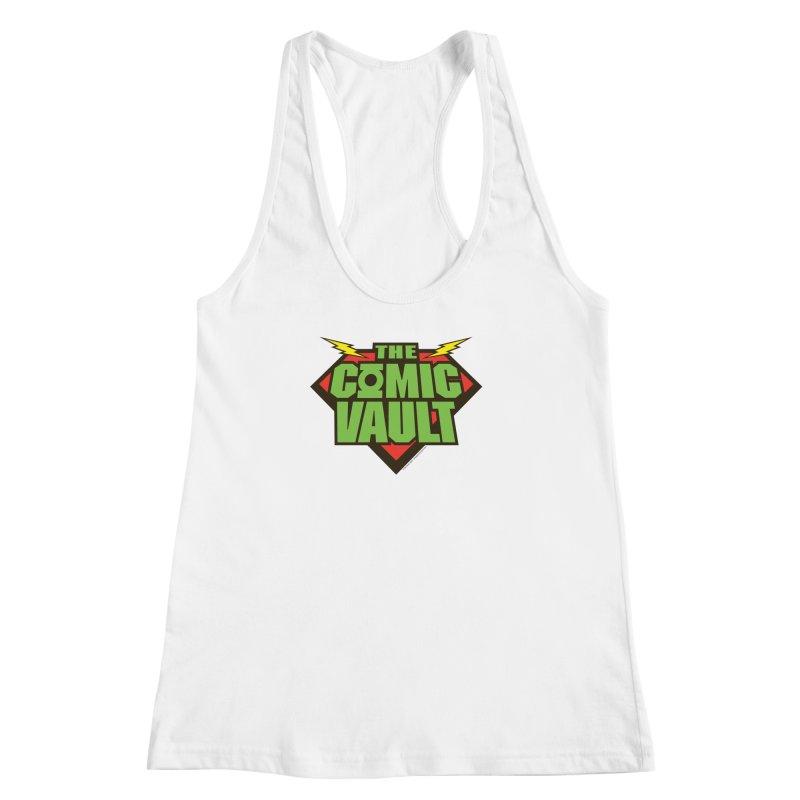 Chicago Comic Vault Old School Logo  Women's Racerback Tank by Monkeys Fighting Robots' Artist Shop